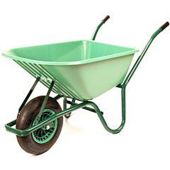 Kruiwagen groen met kunststof bak 75 liter