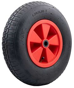 Kruiwagenwiel / skelterwiel met rode velg