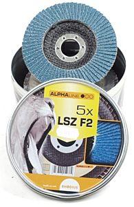 Lamellenschijf LSZ115 / K40 5 stuks in blik (Rhodius)