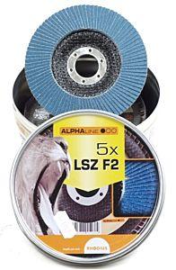 Lamellenschijf LSZ115 / K80 5 stuks in blik (Rhodius)