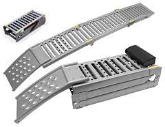 Oprijplaat metaal 250KG/1.95mtr inklapbaar (set 2 stuks)