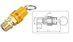 Veiligheidsventiel / Overdrukventiel 1/4 inch, 8 bar voor compressor