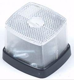 Zijlamp / positielamp wit 63x66mm met reflector