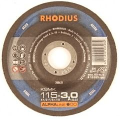 Doorslijpschijf metaal 115x3.0 Rhodius