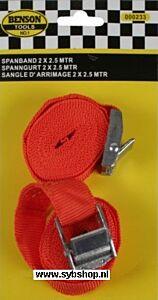 Spanband 2.5 meter 2 delig (oranje)