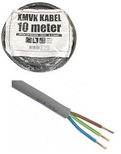 XMVK Stroomkabel rond 3x2.5mm² (10 meter)