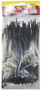 Tie-ribs / Kabelverbinders 3.6x150mm zwart (100 DLG)
