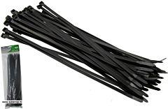 Tie-ribs / Kabelverbinders 7.8x450mm zwart (50 DLG)