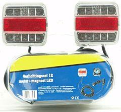 LED Verlichtingsset voor aanhangwagen / trailer + magneet 12M snoer