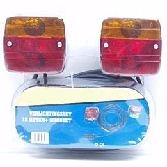 Verlichtingsset voor aanhangwagen / trailer + magneet 12M snoer