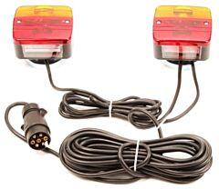 Verlichtingsset voor aanhangwagen / trailer + magneet 7.5M snoer