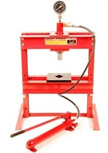 Werkplaatspers / raamwerkpers 12 ton tafel model (met manometer)