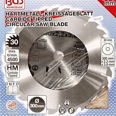 Zaagblad cirkelzaag 300 mm 30 tanden