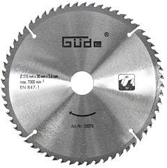 Zaagblad hardmetaal 210x30mm / 60 tanden