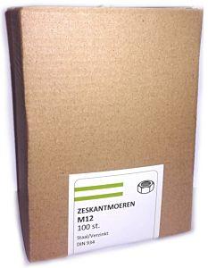Zeskantmoer VZ M12 (100 stuks)
