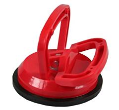 Zuignap / glasdrager enkel rood