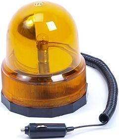 Zwaailamp oranje 12v + magneet