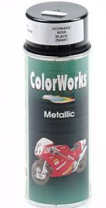 Verfspuitbus metallic zwart 400 ml ColorWorks