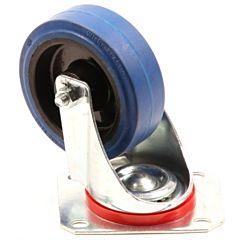 Zwenkwiel 100mm rubber 125KG