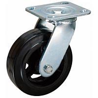 Zwenkwiel 200x50mm rubber 270KG