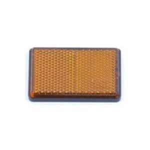 Reflector 62x45 oranje met plakstrip