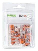 Wago 2V verbindingsklem 16 stuks