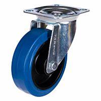 Zwenkwiel heavy 160mm blauw model