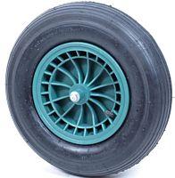 Kruiwagenwiel Groen 400x8 + bevestigingsmaterialen