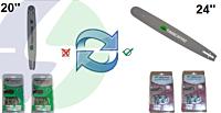 Toevoeging 24'' zaagblad+kettingen - Inruil zaagblad 20''+kettingen
