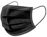 Wegwerp mondmaskers / mondkapjes 50 stuks zwart