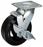 Zwenkwiel met rem 200x50mm rubber 270KG