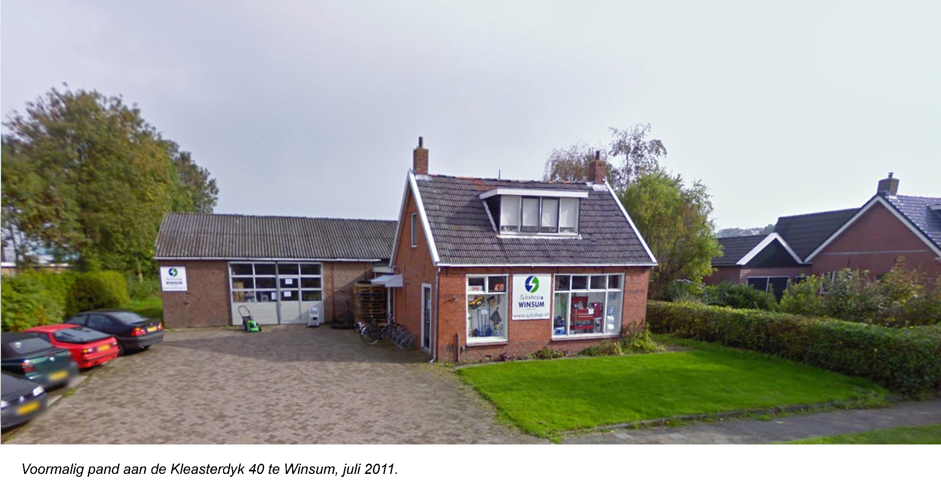 Oude pand Sybshop
